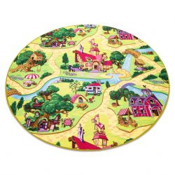 Carpet round CANDY TOWN for children, streets, town