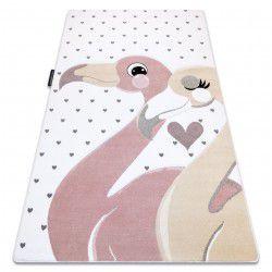 Carpet PETIT FLAMINGOS HEARTS cream