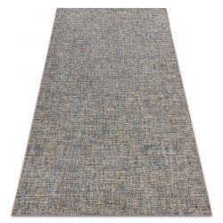 Fonott sizal Fort szőnyeg 36202352 bézs / kék sima egyszínű melange