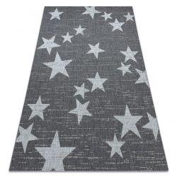 Koberec FLAT SISAL 48699392 Hvězdy bílá šedá
