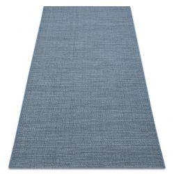 Matta SISAL FORT 36201035 blå uniform one-color smooth plain