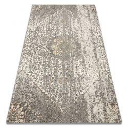 Tapis CORE A004 Cadre, ombragé - structurel, deux niveaux de molleton, ivoire / gris / bleu