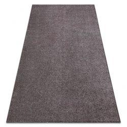 Carpet wall-to-wall SANTA FE brown 42 plain, flat, one colour