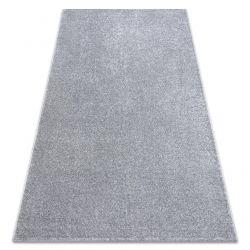Carpet wall-to-wall SANTA FE silver 92 plain, flat, one colour
