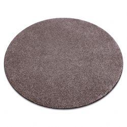 Carpet, round SAN MIGUEL brown 41 plain, flat, one colour