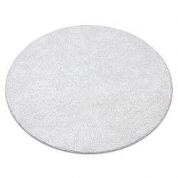 KOBEREC - okrúhly SANTA FE krémová 031 hladký, Jednotný jednofarebný