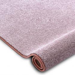 Carpet, round SAN MIGUEL blush pink 61 plain, flat, one colour