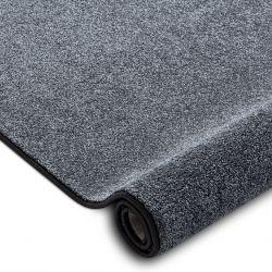 Fitted carpet SAN MIGUEL grey 97 plain, flat, one colour