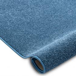 Fitted carpet SANTA FE blue 74 plain, flat, one colour