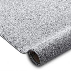 Fitted carpet SANTA FE silver 92 plain, flat, one colour