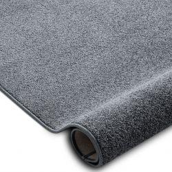 Fitted carpet SANTA FE grey 97 plain, flat, one colour