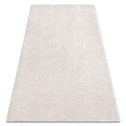Carpet wall-to-wall SAN MIGUEL cream 031 plain, flat, one colour