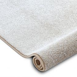 Fitted carpet SAN MIGUEL cream 031 plain, flat, one colour