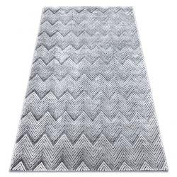 Teppich Strukturell SIERRA G5010 flach gewebt grau - Geometrisch, ZigZag