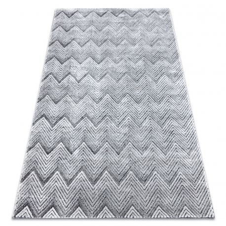 Carpet Structural SIERRA G5010 Flat woven grey - geometric, zigzag