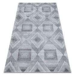 Tapete Structural SIERRA G5011 tecido liso cinzento / preto - geométrico, diamantes