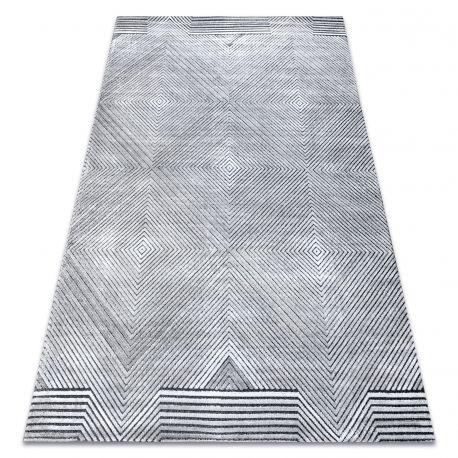 Carpet Structural SIERRA G5012 Flat woven grey - geometric, diamonds