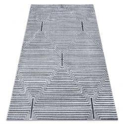 Koberec StrukturálníSIERRA G5018 ploché tkaní šedá - proužky, diamanty