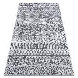 Tapis Structural SIERRA G6042 tissé à plat gris clair - géométrique, ethnique
