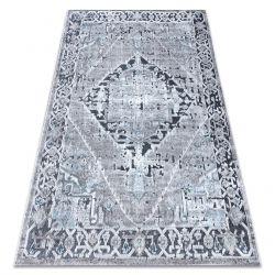Koberec StrukturálníSIERRA G6038 ploché tkaní šedá - růžice