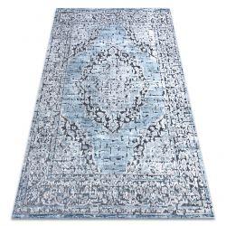 Teppich Strukturell SIERRA G8076 flach gewebt blau / grau - Rosette