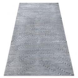 Koberec StrukturálníSIERRA G5013 ploché tkaní šedá - zigzag, ethnic