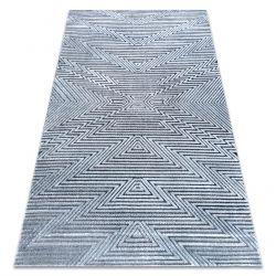 Koberec StrukturálníSIERRA G5013 ploché tkaní modrý - zigzag, ethnic