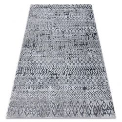 Carpet Structural SIERRA G6042 Flat woven grey - geometric, ethnic