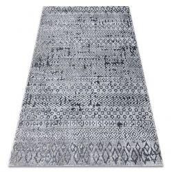 Teppich Strukturell SIERRA G6042 flach gewebt grau - geometrisch, ethnisch