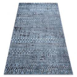Teppich Strukturell SIERRA G6042 flach gewebt blau - geometrisch, ethnisch