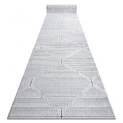 Passadeira Structural SIERRA G5018 tecido liso cinzento - tiras, diamantes