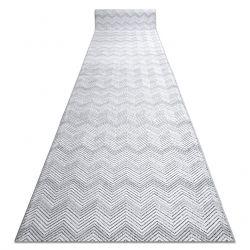 Passadeira Structural SIERRA G5010 tecido liso cinzento - geométrico, ZIGZAG