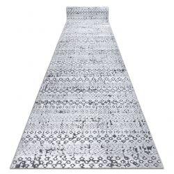 Chodnik Strukturalny SIERRA G6042 Płasko tkany, dwa poziomy runa szary - geometryczny, etniczny