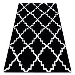 Килим SKETCH – F343 черно/сметана мароканска детелина