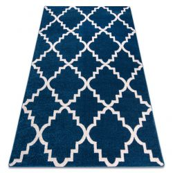 Covor Sketch - F343 albastru și alb marocani Trellis