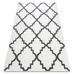 Килим SKETCH - F343 сіро-білий Марокканський візерунок