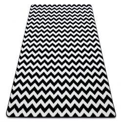 Tapis SKETCH - F561noir et blanc - Zigzag