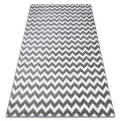 Teppich SKETCH - F561 grau/weiß - Zickzack