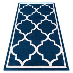 Sketch szőnyeg - F730 kék/fehér Lóhere Marokkói Trellis