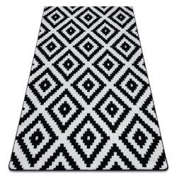 Covor Sketch - F998 cremă și negru - Pătrate Ruta
