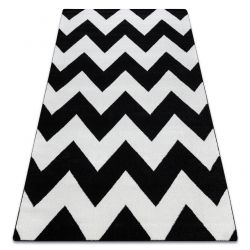 Carpet SKETCH - FA66 black/cream - Zigzag