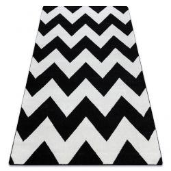 Carpet SKETCH - FA66 black/white - Zigzag