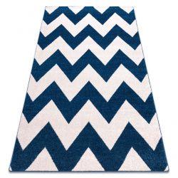 Matto SKETCH - FA66 sininen/valkoinen - Zigzag