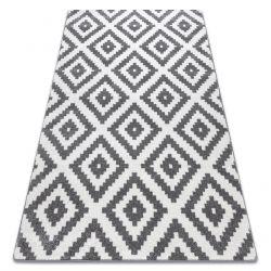 Килим SKETCH – F998 сметана/сиво – квадрати