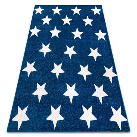 Alfombra SKETCH - FA68 azul/blanco - Estrellitas Estrellas