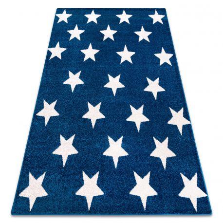 Koberec SKETCH - FA68 Marocká ďatelina,Mreža, modro biela - hviezdy