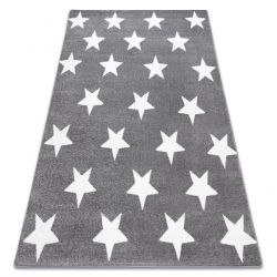 Koberec SKETCH - FA68 sivá/biela - hviezdy