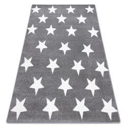 Tepih SKETCH - FA68 siva/Bijela - Zvijezde