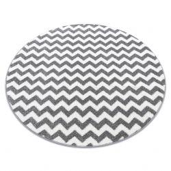 Tapis SKETCH cercle - F561 gris et blanc - Zigzag