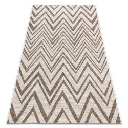 Fonott sizal floorlux szőnyeg 20308 Cikcakk pezsgő / sötét bézs